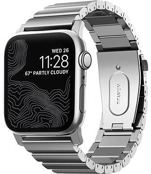 Nomad Titanium Band Silver Apple Watch 5 44/42mm
