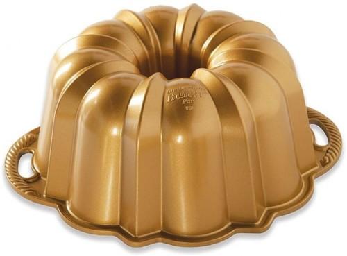 Forma na bábovku v zlatej farbe Nordic Ware Anniversary, 2,8 l