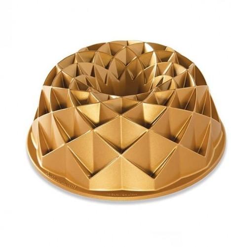 Forma na bábovku v zlatej farbe Nordic Ware Jubilee, 2,4 l