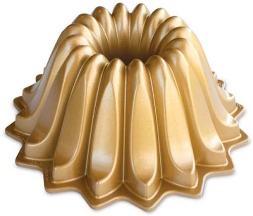 Forma na bábovku v zlatej farbe Nordic Ware Lotus, 1,18l