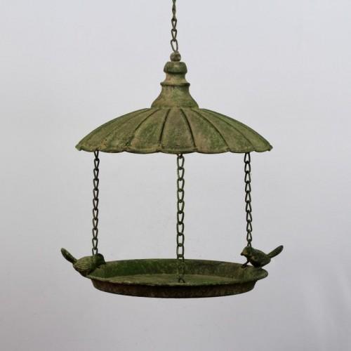 Kŕmidlo pre vtákov závesné zelená patina 33x25cm