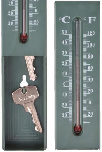 Vonkajší teplomer sa skrýš na kľúče 5,2x2,8x16,2cm