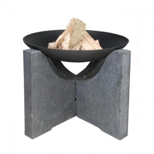 Záhradné ohnisko s granitovou nohou 68x68c46cm