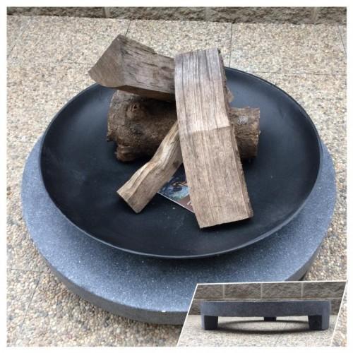 Záhradný prenosné ohnisko na granitovom kruhu 58cm