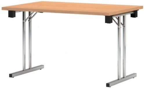 NOWY STYL Eryk 160 písací stôl buk svetlý / chróm