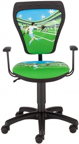 NOWY STYL Ministyle detská stolička na kolieskach s podrúčkami čierna / vzor La Liga