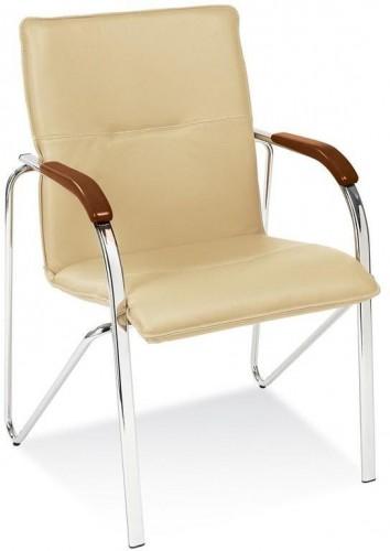NOWY STYL Samba konferenčná stolička chrómová / krémová (V18N)