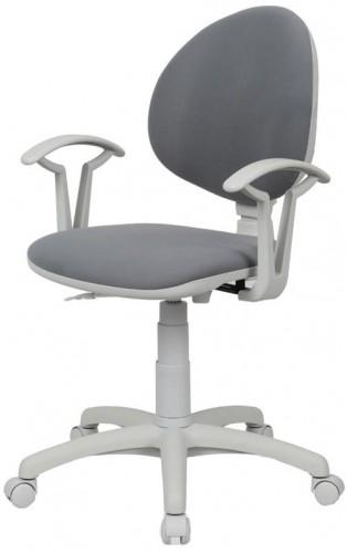 NOWY STYL Smart White detská stolička na kolieskach s podrúčkami šedá (M47)
