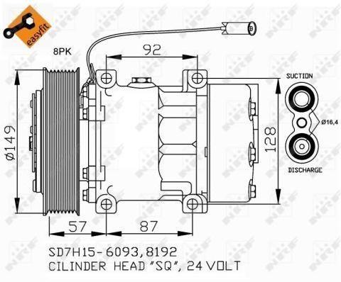 Kompresor klimatizácie NRF EASY FIT 32699 32699