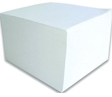 Papírový bloček v kostce, 90x90x50 mm, se stojánkem