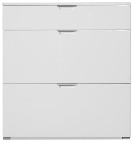 GW-Gala - Botník, 1x zásuvka, 2x výklopné dvere (biela)