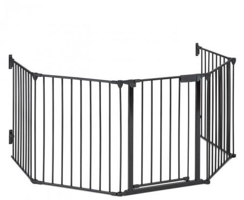 OneConcept Safety-First, ochranná mriežka na krb, uzamykacia mreža, 3 m, kov, čierna