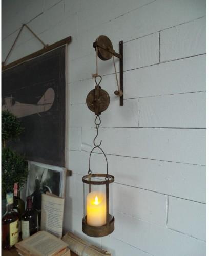 Nástenný lampáš so závesom Orchidea Milano Old Factory