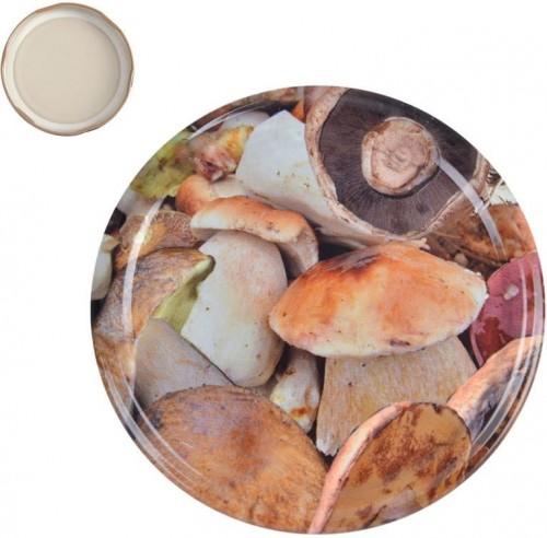 Viečka na zaváracie poháre 8,2 cm HUBY 10 ks
