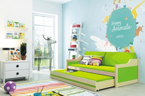 Detská posteľ Ourbaby David fialová 200x90 cm