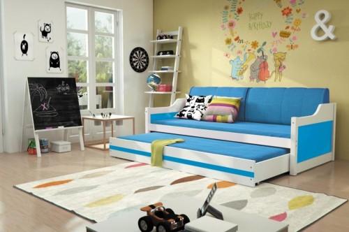 Detská posteľ Ourbaby David modrá 200x90 cm
