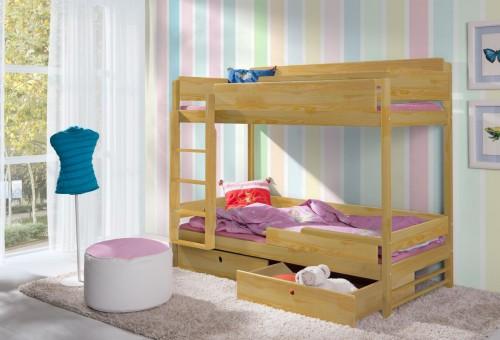 Detská posteľ Ourbaby Natu II borovica 200x90 cm
