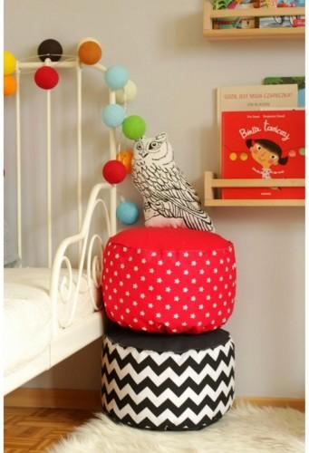 Sedací vak pre děti - rôzne farby bodky béžová