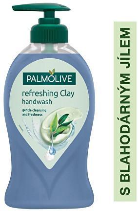 Palmolive Tekuté mydlo na ruky s ílom Eucalyptus (Refreshing Clay Handwash) 250 ml - ZĽAVA - odlomený dávkovač, lepený