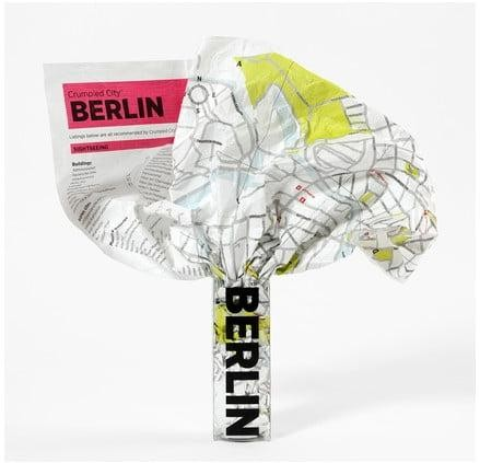 Pokrčená cestovná mapa Palomar Berlín