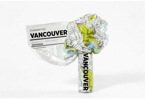 Pokrčená cestovná mapa Palomar Vancouver