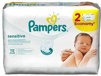 PAMPERS Wipes Sensitive 2× 56 ks