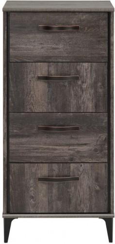 Komoda v dekore borovicového dreva so 4 zásuvkami Parisot Ambra