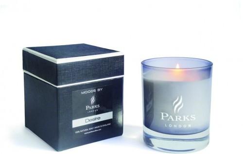 Sviečka s vôňou brezy a duba Parks Candles London Moods Black, 50hodín horenia