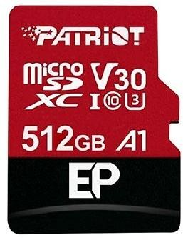 PATRIOT EP Series 512GB MICRO SDXC V30 A1