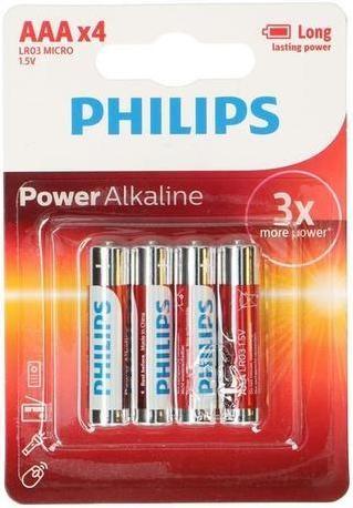 Philips Batérie mikrotužkové AAA Philips PowerLife, 4 ks