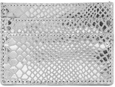 Pieces Dámska peňaženka PCNAINA LEATHER SNAKE CARDHOLDER Silver Colour snake