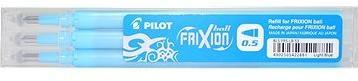 PILOT Frixion 0.5/0.25mm světle modrá 3ks