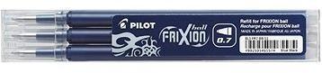 PILOT Frixion 0.7/0.35mm modročerná 3ks