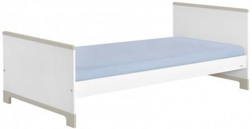 Bielo-sivá detská posteľ Pinio Mini, 200×90cm