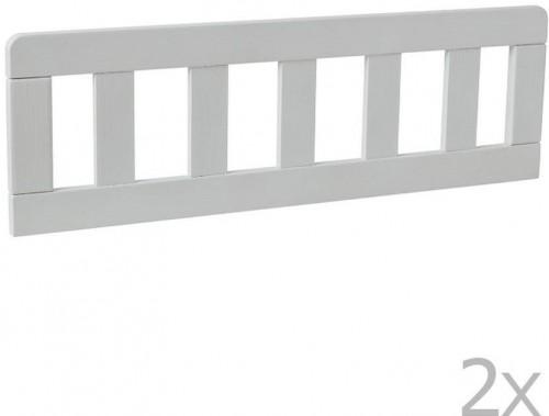 Sada 2 bielych drevených zábran k detskej postieľke Pinio Classic, 200 × 90 cm