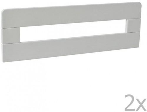 Sada 2 bielych drevených zábran k detskej postieľke Pinio Simple, 200 × 90 cm