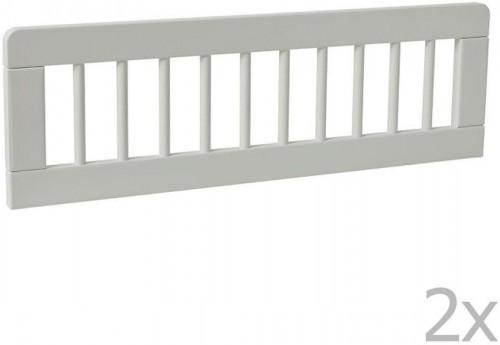 Sada 2 bielych zábran k detskej postieľke Pinio Basic, 160 × 70 cm