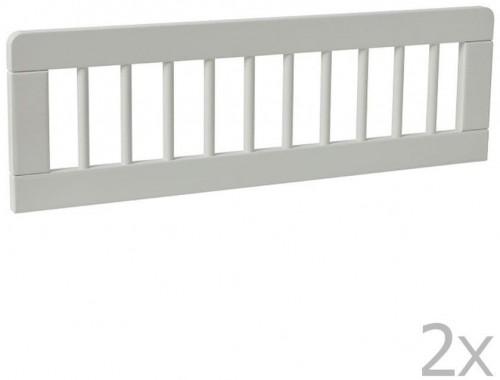Sada 2 bielych zábran k detskej postieľke Pinio Basic, 200 × 90 cm