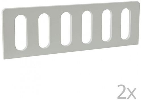 Sada 2 bielych zábran k detskej postieľke Pinio Modern, 160 × 70 cm