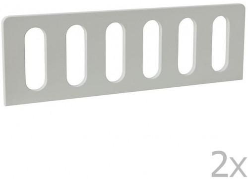 Sada 2 bielych zábran k detskej postieľke Pinio Modern, 200 × 90 cm