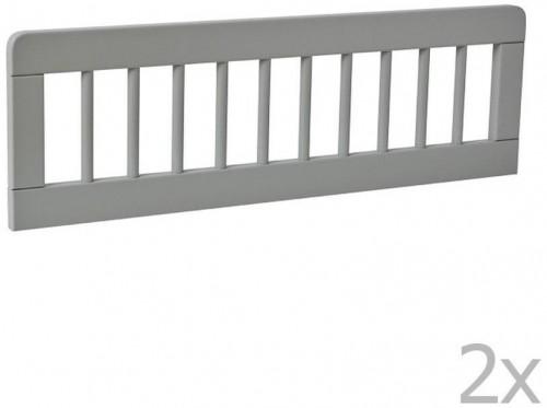 Sada 2 sivých zábran k detskej postieľke Pinio Basic, 200 × 90 cm
