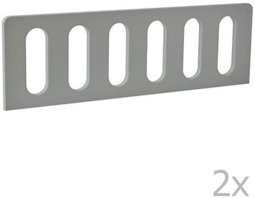 Sada 2 sivých zábran k detskej postieľke Pinio Modern, 160 × 70 cm