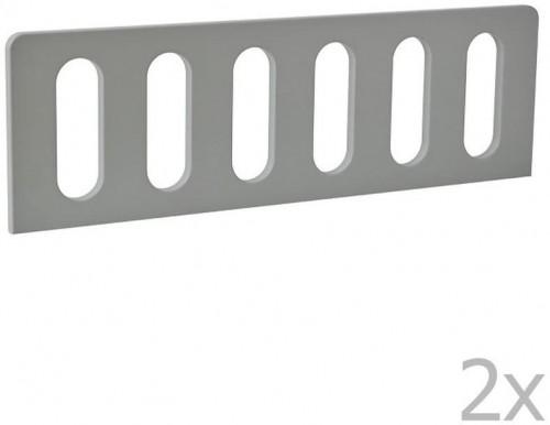 Sada 2 sivých zábran k detskej postieľke Pinio Modern, 200 × 90 cm