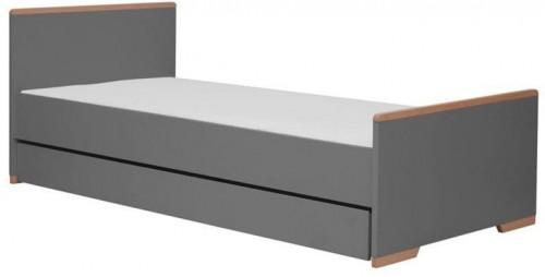 Tmavosivá detská posteľ Pinio Snap, 205 × 96 cm