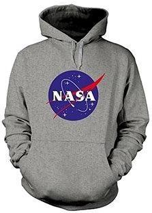 NASA Logo šedá - mikina S