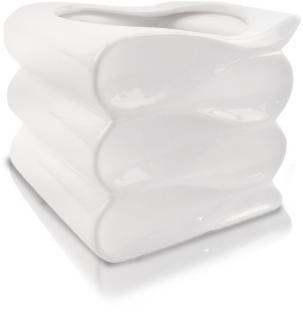 Keramický obal vlna biely 15 cm