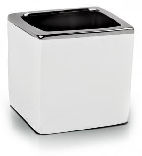 Keramický obal Piano kvadrat bielo-strieborný 9 cm