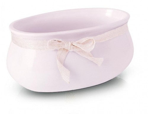 Keramický ovál Smooth pink 18 - 23 cm