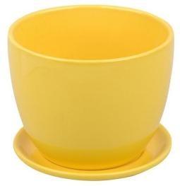 Kvetináč Yellow s podmiskou 4 veľkosti