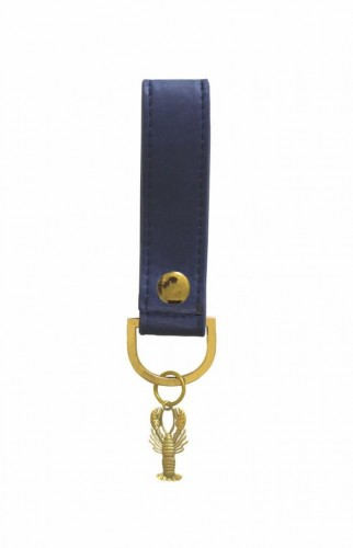 Tmavomodrá kľúčenka Portico Designs